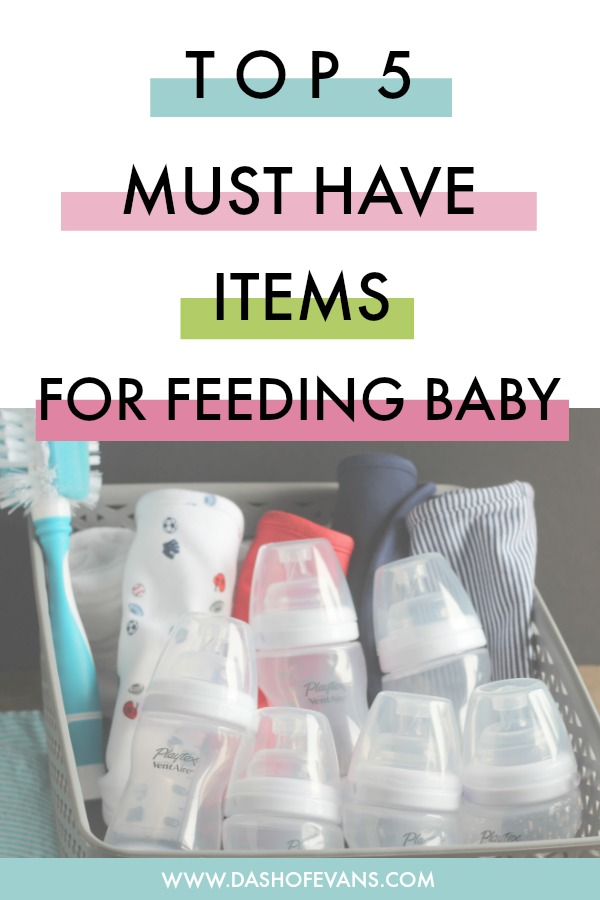5 Items to add to your registry for feeding your newborn. Playtex VentAire bottles are always the top of our Target list! via @DashOfEvans @SoFabLife #HappierFirstMoments #ForBetterBeginnings