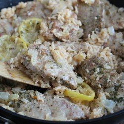 One-Pan Lemon Herb Pork with Rice