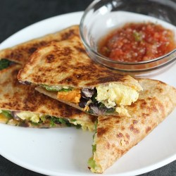 Southwest Breakfast Quesadilla