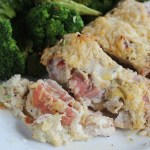 Chicken breasts stuffed with La Terra Fina Lemon Pepper Asiago dip and prosciutto. YUM! via @DashOfEvans