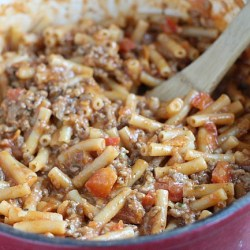 Friday night dinner: One Pot Beef-a-Roni...