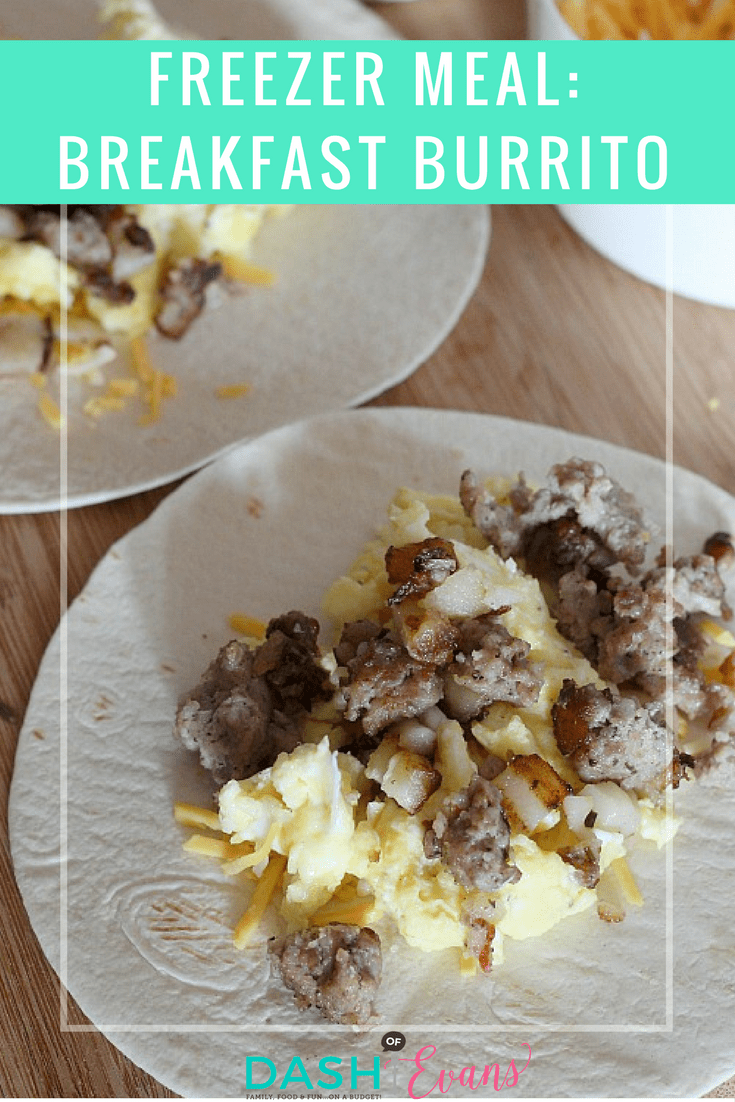 Fill up your freezer with these quick and easy Sausage + Potato Breakfast burritos. Perfect for on the go! via @DashOfEvans