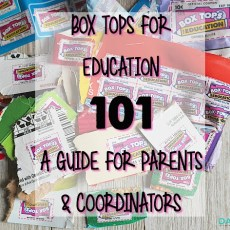 Box Tops for Education 101: Tips from a coordinator!