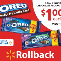 Find OREO Chocolate Candy Bars on rollback now at Walmart! via @DashOfEvans