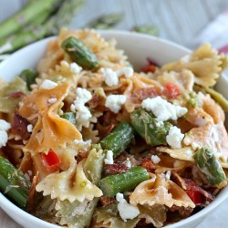 Pasta Salad with Asparagus and Goat Chee...