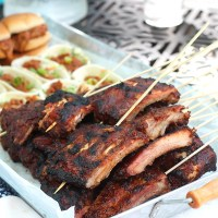 Looking for an easy BBQ party spread? Turn to Curly's BBQ for a simple, yet delish menu! via @dashofevans