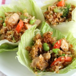 Easy Lettuce Wraps with Tai Pei Entrées...