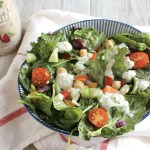 Easy Vegetarian Greek Salad with Chickpe...