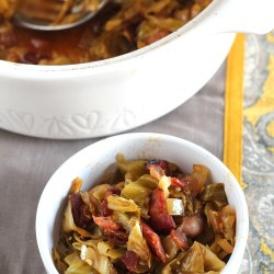 Braised Cabbage with Bacon and Apples