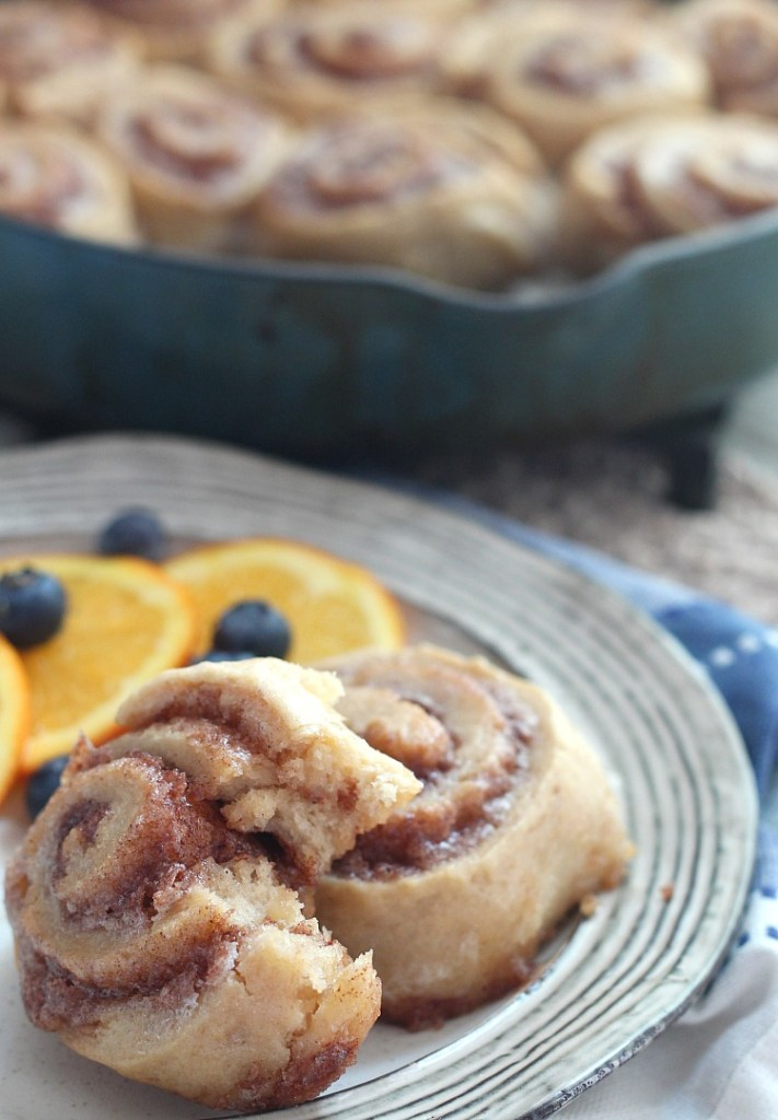 This is the easiest cinnamon roll recipe ever. No waiting for dough to rise, just mix up in one bowl and bake! YAY! Check out this Buttermilk Cinnamon Roll recipe on @DashOfEvans --don't skip out on the icing! #bakedgoods #cinnamonrolls #buttermilk