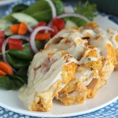 Easy Baked Ranch Chicken Cordon Bleu