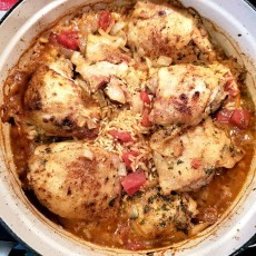 One Pot Chicken and Rice with Tomatoes