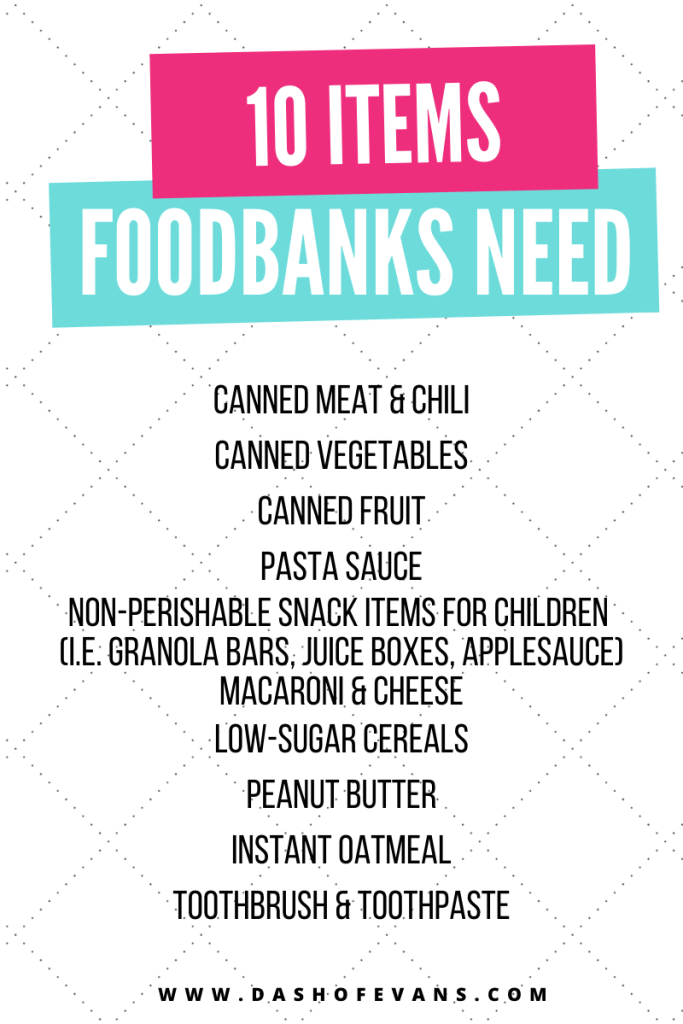 What items does a foodbank need? Here are the Top 10 requested items! via @DashOfEvans