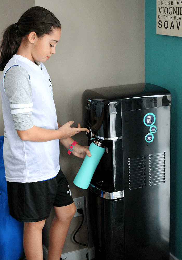 Looking to increase your water intake easily? Try a Primo water dispenser! You can easily refill at your favorite grocery store for pennies. Say buh-bye to the plastic water bottles! See my post for more tips and tricks. via @DashOfEvans #DrinkBig #DrinkHealthy