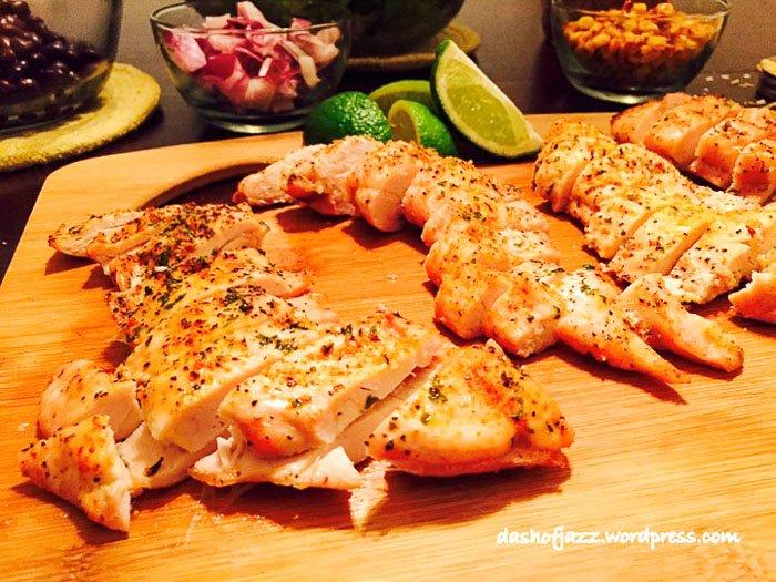sliced roasted chicken breast