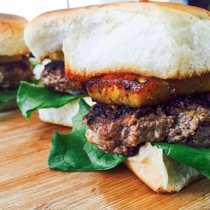 """Hawaiian"" Turkey Burger Sliders"