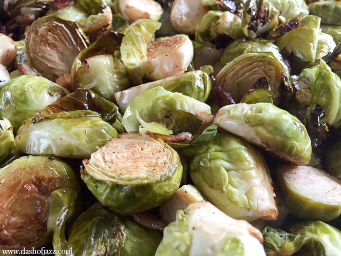 crispy brussels sprouts and bacon