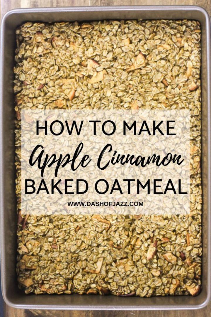 how to make apple cinnamon baked oatmeal pin
