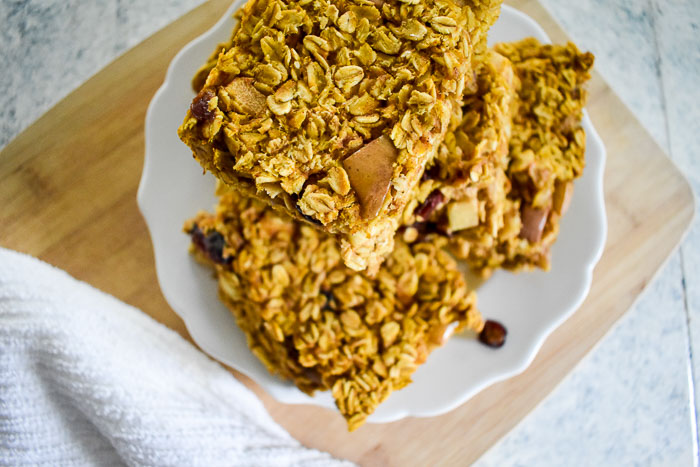 Pumpkin Maple Baked Oatmeal
