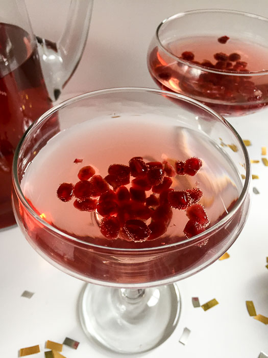 Pomegranate Champagne Cocktail