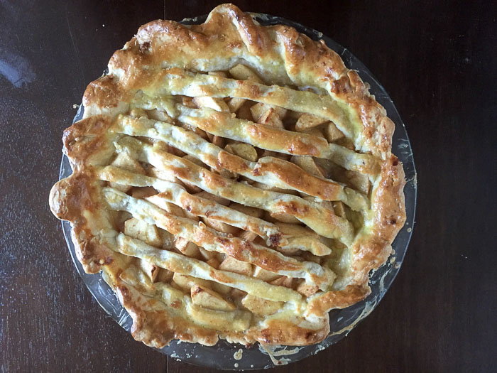 Apple Pie with Brie