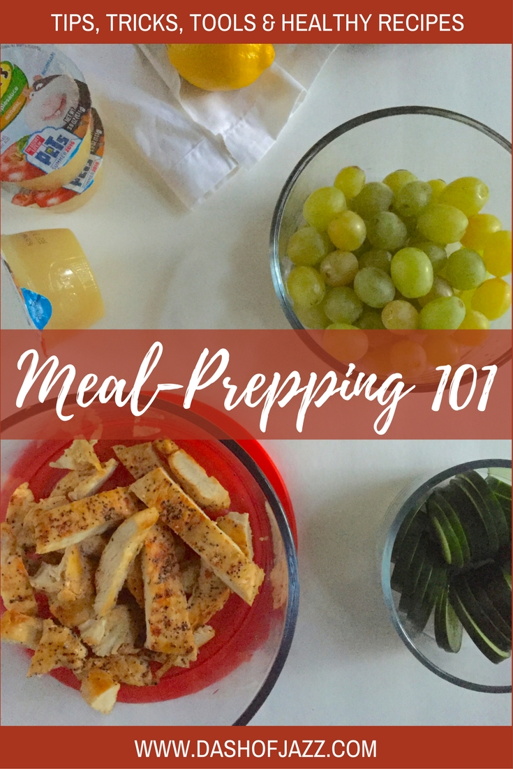 Meal-Prepping 101 is a collection of tips, tricks, tools, and healthy recipes to help you master a realistic meal prep routine on a busy schedule. By Dash of Jazz
