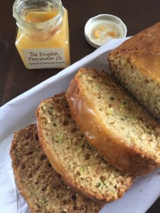 making lemon zucchini bread