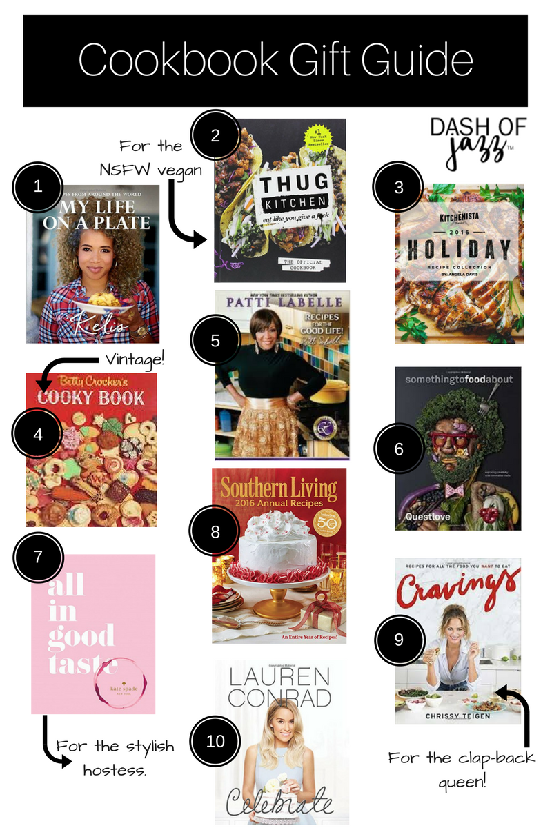 Nine cookbooks from decadent Southern to modern vegan to provide gift inspiration for the holidays and beyond. Check out this everyday cookbook gift guide. by Dash of Jazz