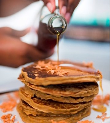 Fresh Sweet Potato Pancakes