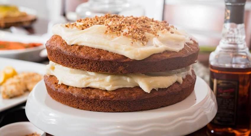 Naked Bourbon Carrot Cake | Dash of Jazz