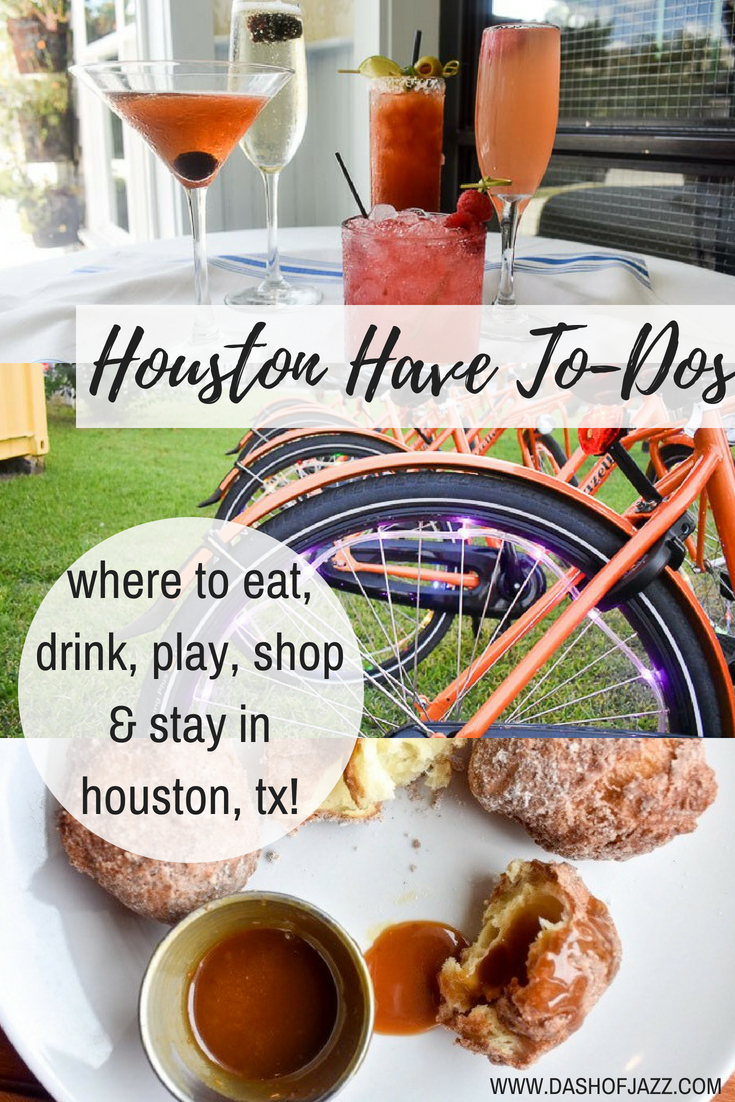 All the best places to eat, drink, play, shop, and stay while visiting Houston, Texas from a native Houstonian and local foodie! #travel #staycation #foodie