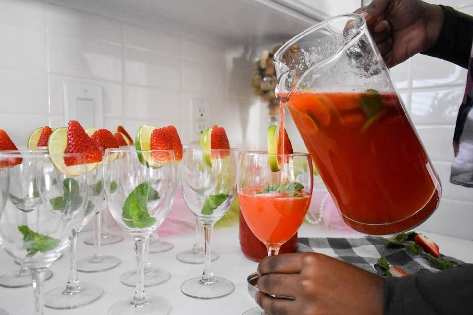 Sparkling Strawberry Mint Limeade