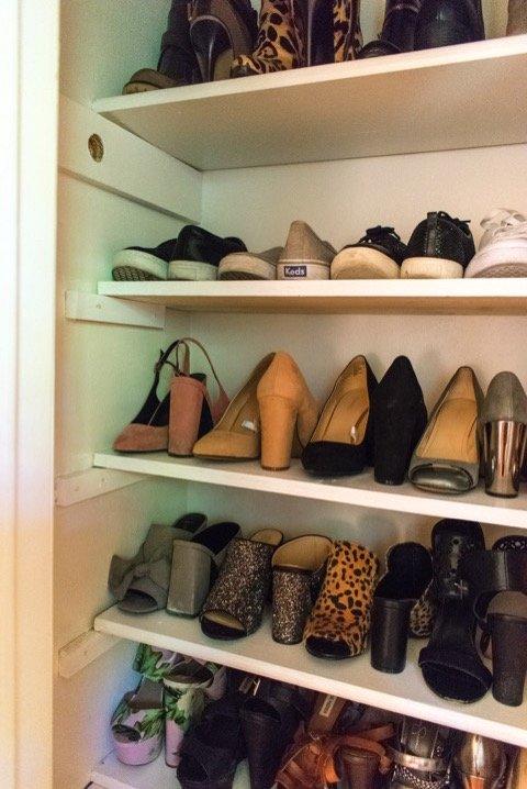 Weekend Project   DIY Shoe Closet   Dash Of Jazz