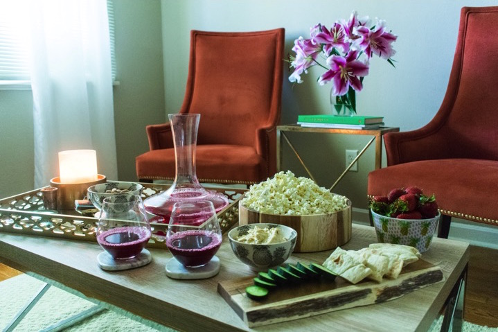 Ideas for creating a quick and delicious spread of easy snacks for last-minute guests in your home by Dash of Jazz