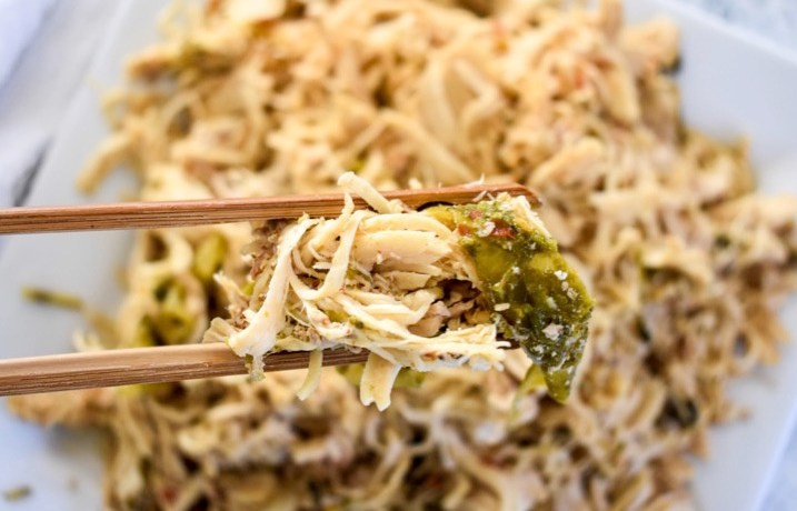 Slow Cooker Spicy Shredded Chicken | Dash of Jazz