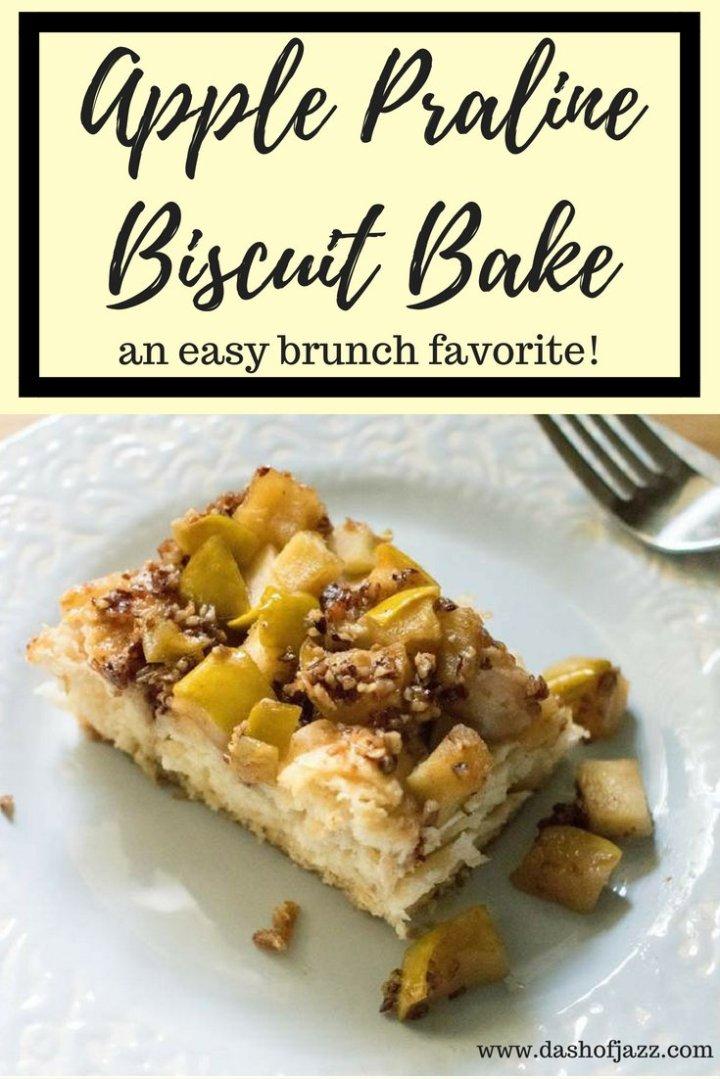 Apple Praline Biscuit Bake