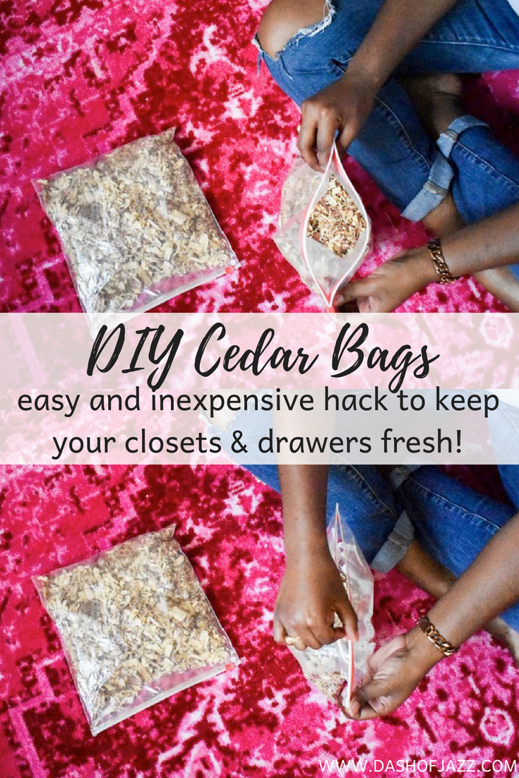 6 simple ways to keep your closet organized plus a cedar DIY to keep your clothes fresh and moths away. Check out these easy closet organization hacks!