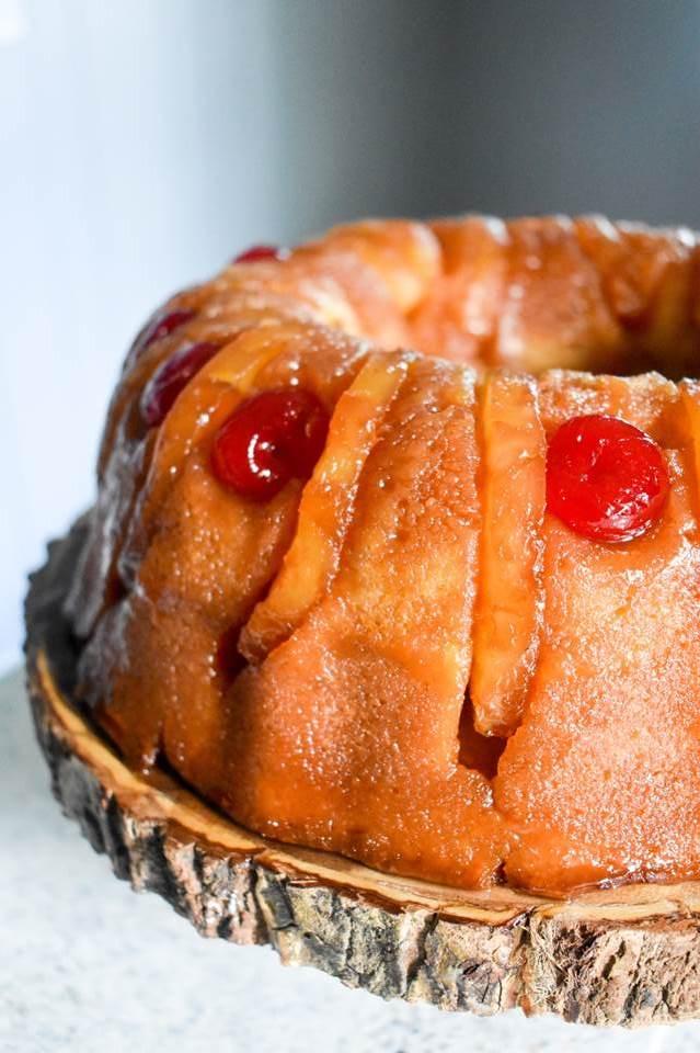 Tipsy Pineapple Upside-Down Rum Cake