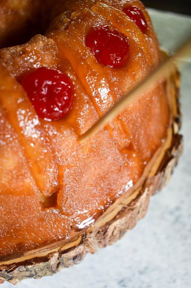 An out-of-this-world delicious Tipsy Pineapple Upside-Down Rum Cake by Dash of Jazz