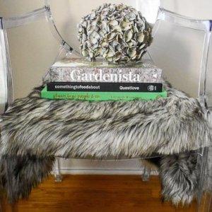 DIY Faux Fur Seat Covers (One Room Challenge Week 2)