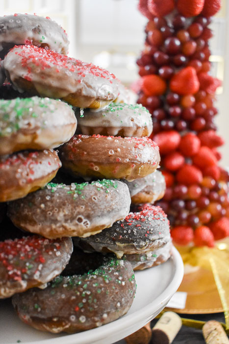 tower of gingerbread Christmas donuts