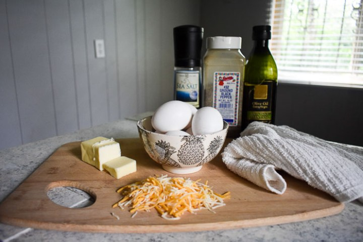Learn how to make the perfect cheese eggs every time with my no-fail method! Easy scrambled cheese eggs tutorial by Dash of Jazz