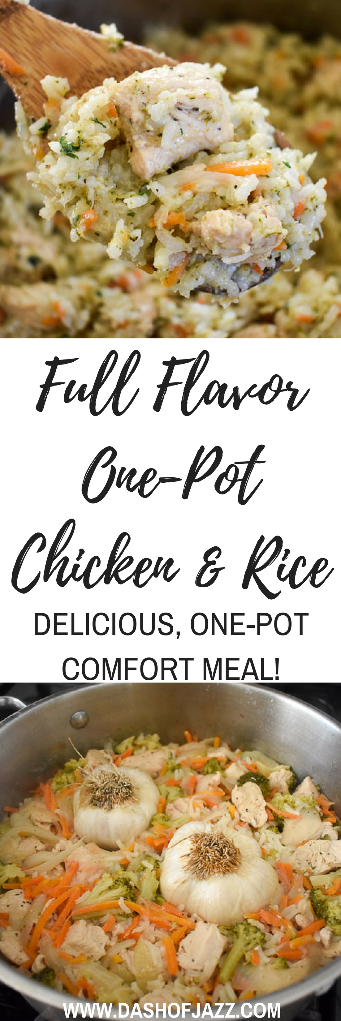 Look to this delicious, creamy one-pot chicken & rice dish when you want comfort food that's full of flavor and fun to make! Recipe by Dash of Jazz