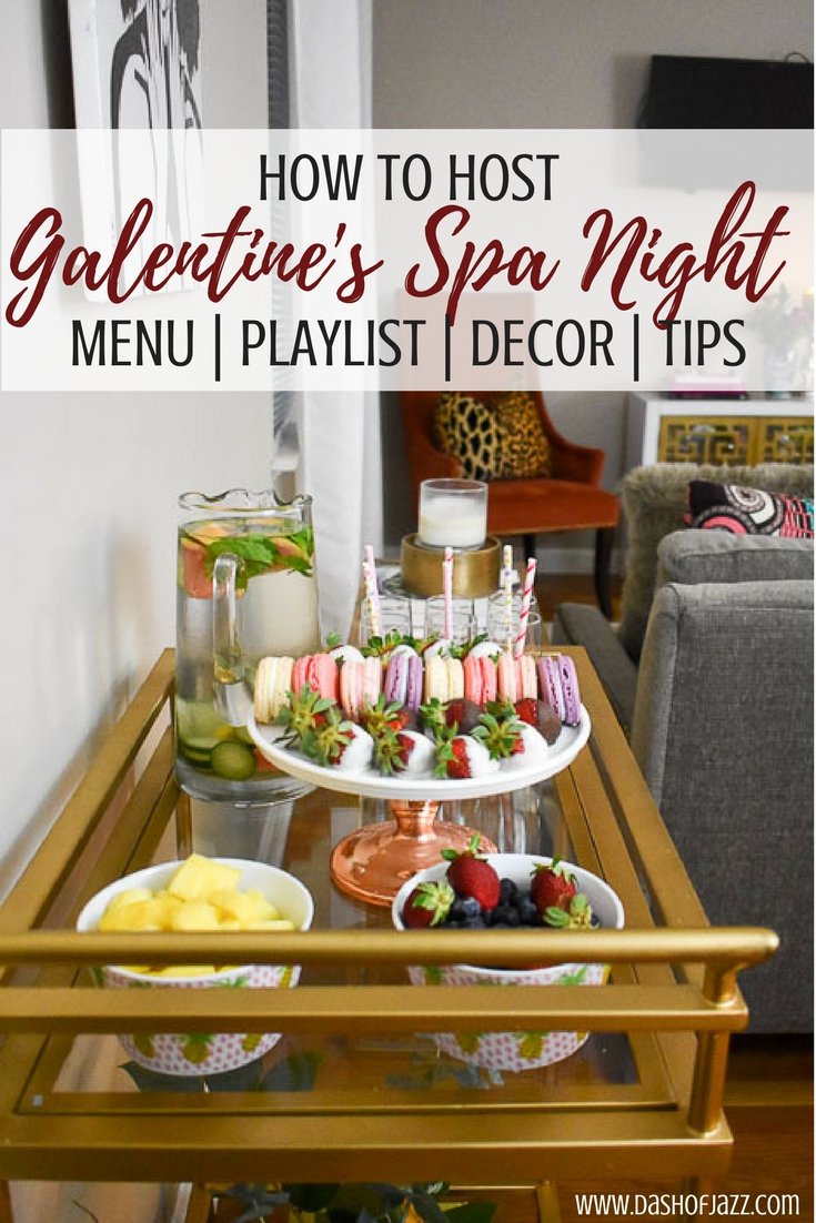 Invite your girlfriends over and host a galentine's spa night with this party guide of budget-friendly tips, inspo, and product recommendations to easily turn your home into a relaxing retreat. Tutorial by Dash of Jazz