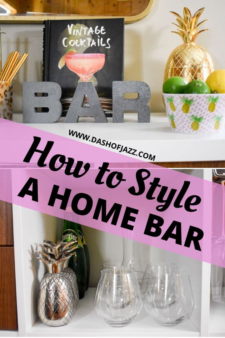 how to style a home bar graphic