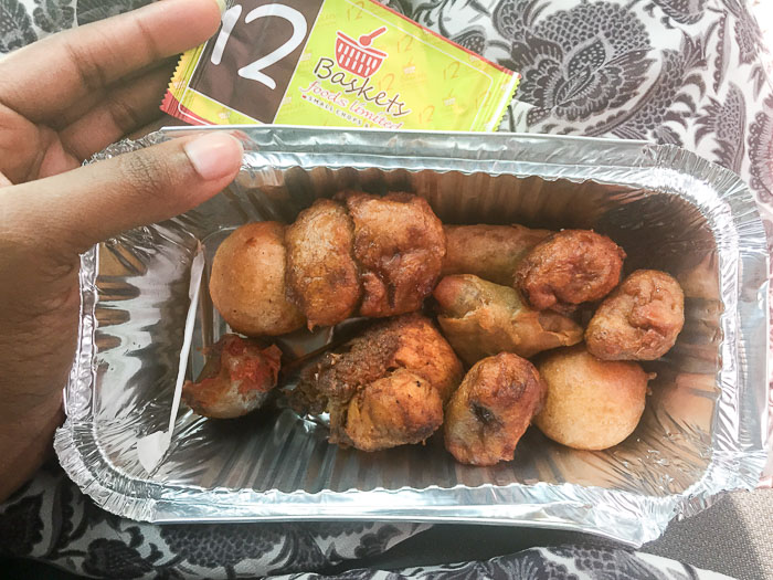 small chops from 12 Baskets in Lagos, Nigeria