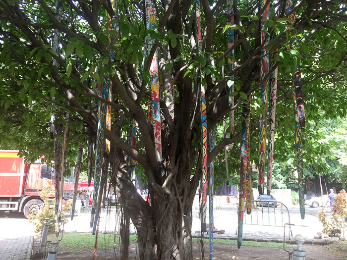 Art installation in tree at Freedom Park, Lagos, Nigeria