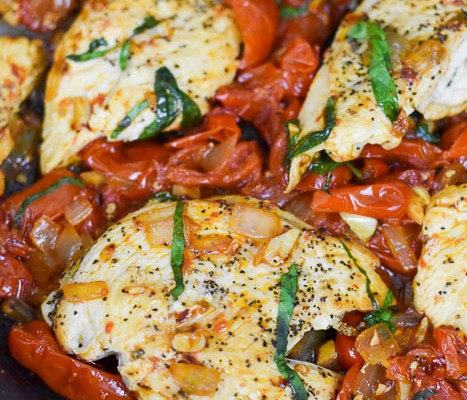 Easy Weeknight Tomato Basil Chicken (in 30 minutes!)