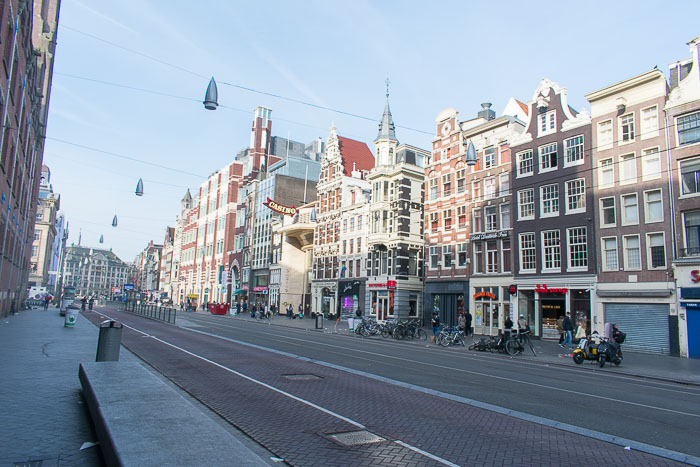 street in central Amsterdam, The Netherlands