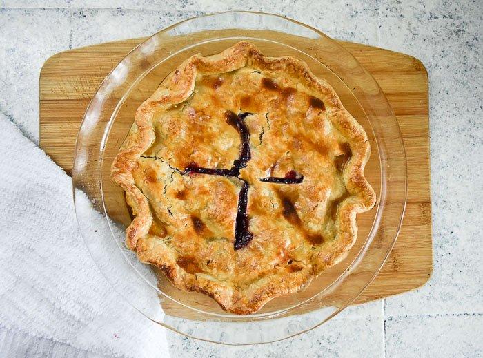 baked lemon ginger cherry pie